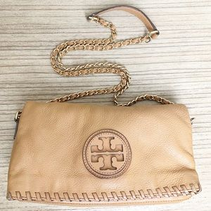 Tory Burch - Tan Marion Whipstitch Crossbody